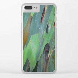 Mindanao Gum - Eucalyptus deglupta Clear iPhone Case