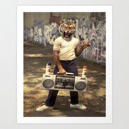 B-Boy tiger Art Print