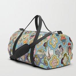 Oriental grill mosaic Duffle Bag