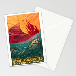 Hawaii Volcanos National Park Stationery Cards