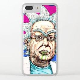 Rick Bernie Sanchez Clear iPhone Case
