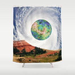 Rouge Planet Shower Curtain