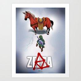 Zelda/Akira - DARK Art Print