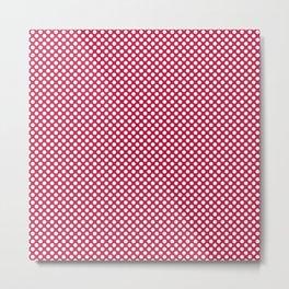 Barberry and White Polka Dots Metal Print