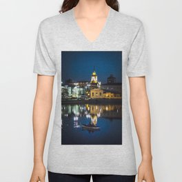 Night in the town Unisex V-Neck