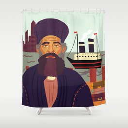 Land of Liberty, The Immigrant Shower Curtain