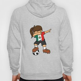 Mexico Soccer Ball Dabbing Girl Mexican Football 2018 Hoody