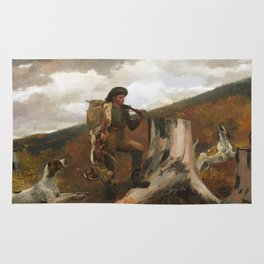 Winslow Homer, A Huntsman and Dogs, 1891 Rug