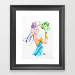Witchy art challenge day 14 HEALER WITCH Framed Art Print