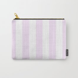 Pale purple (Pantone) - solid color - white vertical lines pattern Carry-All Pouch