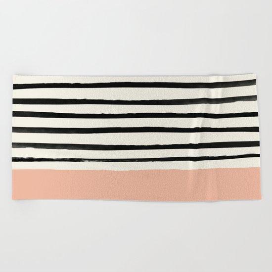 Peach x Stripes Beach Towel