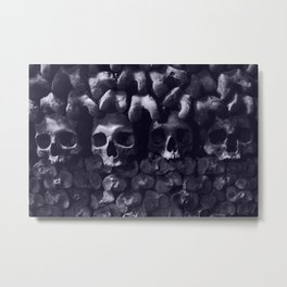 Skulls - Paris Catacombs, tinted version Metal Print