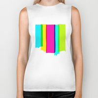 the strokes Biker Tanks featuring Brush Strokes by Ulrika Bygge