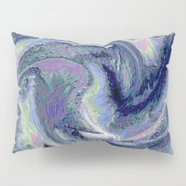 Blue Marble Abstract  Background Pillow Sham