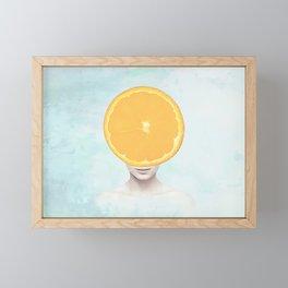 Orange Head Lady Framed Mini Art Print