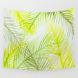 Painted Palm Fronds Wall Tapestry