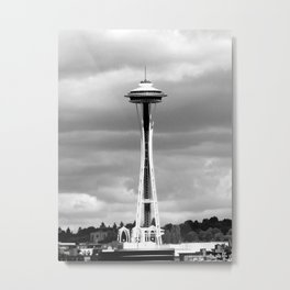 Seattle in Black and White Metal Print