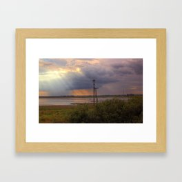 Sunset over the Norfolk Broads, UK Framed Art Print