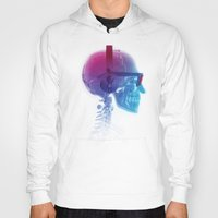 terry fan Hoodies featuring Electronic Music Fan by Sitchko Igor