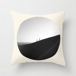 Zen Minimalist Desert Dune Throw Pillow