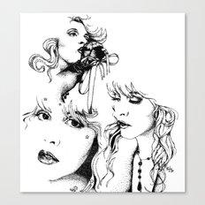 Trois Stevie Canvas Print