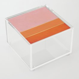 Orange, Pink And Gold Abstract Painting Acrylic Box