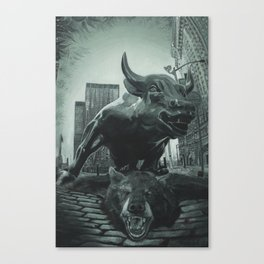 Triumph of the Bull Canvas Print