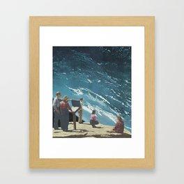 People Watching Framed Art Print
