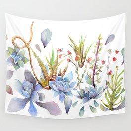 A Succulent Mixture Botanical Design Wall Tapestry