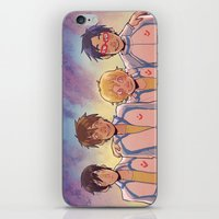 anime iPhone & iPod Skins featuring swimming anime by Tyler Long