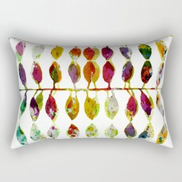 row of colored leaves Rectangular Pillow