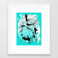 siren Framed Art Prints featuring Siren by Rob S