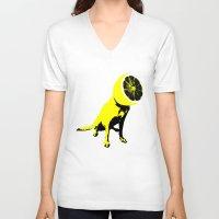 lemon V-neck T-shirts featuring lemon by Ali GULEC