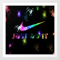 nike Art Prints featuring NIKE by Bilqis