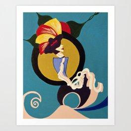 Turquoise Rhapsody Art Print