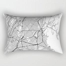 The Bronx White Map Rectangular Pillow