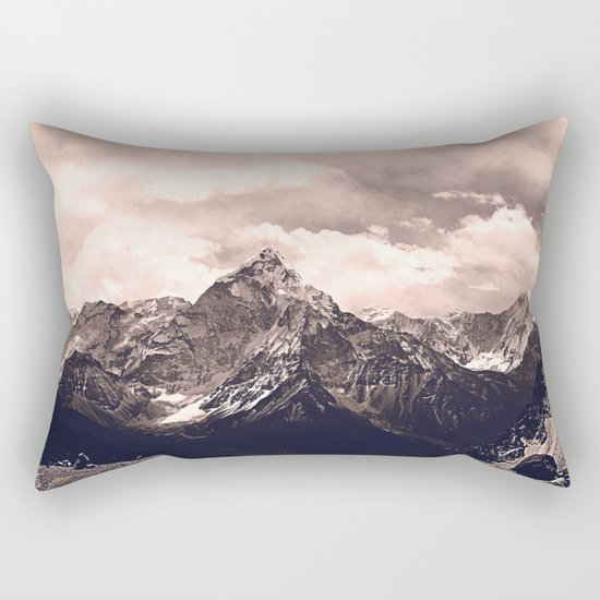Pink Mountain Rectangular Pillow