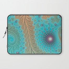 "Aqua Teal Turquoise ""Aquae"" - Fractal Art Laptop Sleeve"