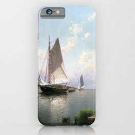 Alfred Thompson Bricher - Blue Point, Long Island iPhone Case