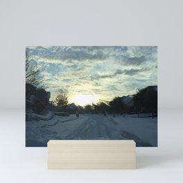 Rare Texas Snow Mini Art Print