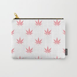 Peachy Cannabis Pot Leaf Pattern Carry-All Pouch