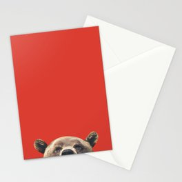 Bear - Red Stationery Cards