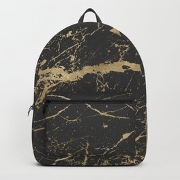 Marble Black Gold - Whistle Backpack