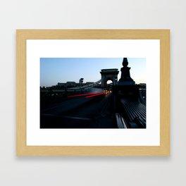 Széchenyi Lánchíd or Széchenyi Chain Bridge in Budapest Framed Art Print