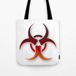 Rusty Biological Hazard Symbol Tote Bag