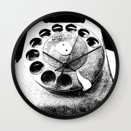 Hipster cellphone Wall Clock