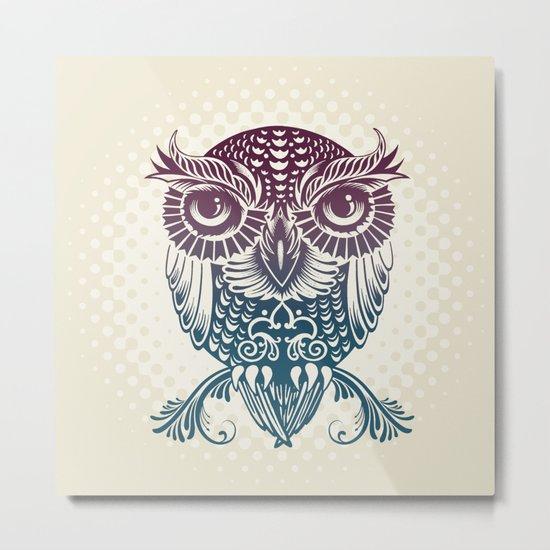 Baby Egyptian Owl Metal Print