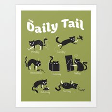 The Daily Tail Cat Art Print