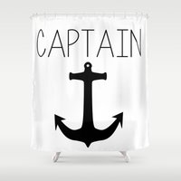 captain silva Shower Curtains featuring Captain by Nicolekay