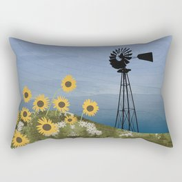 Wind Pump American Style Windmill Rectangular Pillow